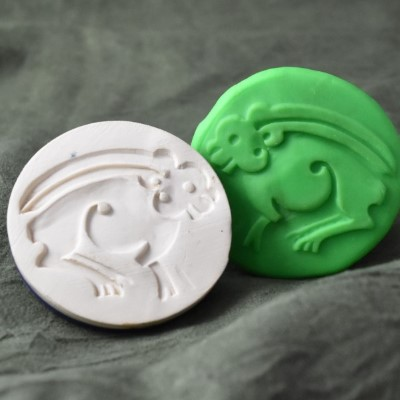 080: Byzantine Hare or Rabbit Cookie Stamp