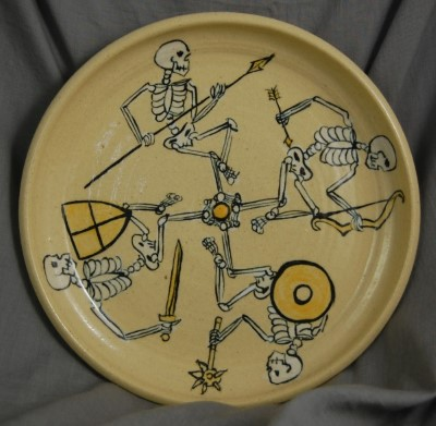 Macabre Tan Warrior Plate