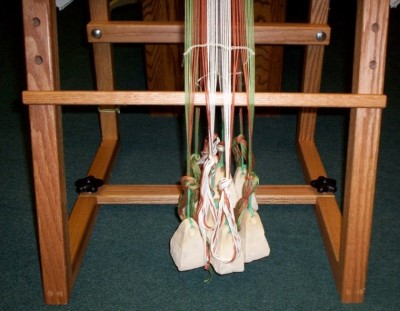 In Use: Greek weights on loom